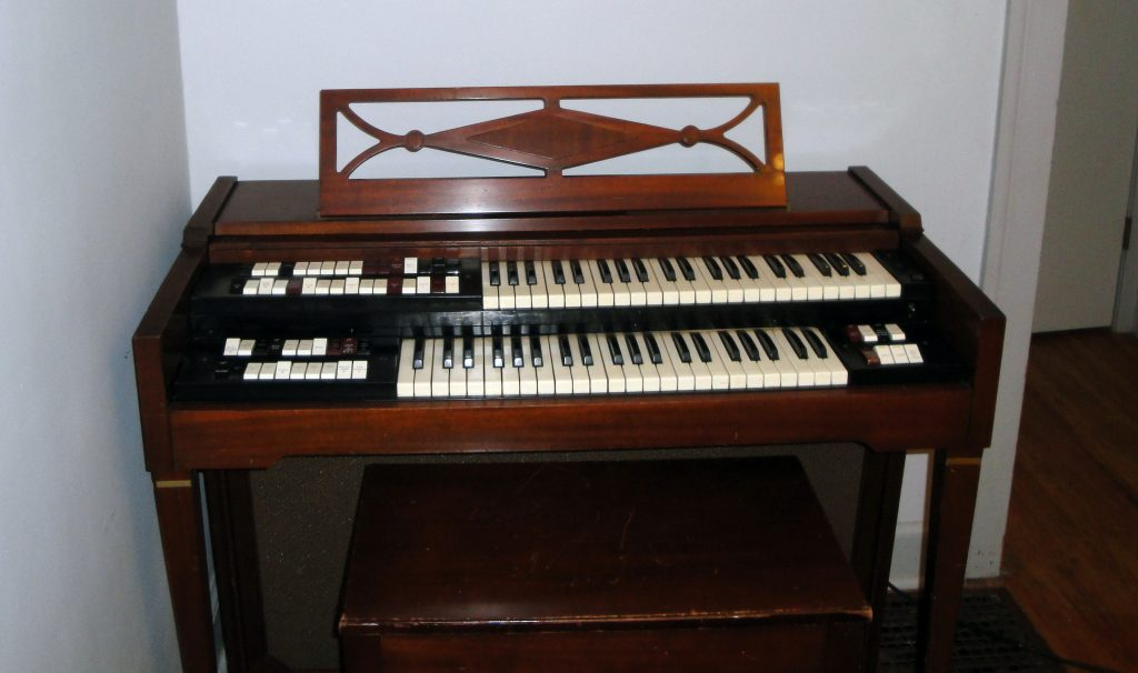 Mark's rare vintage Lowrey DSO-1 organ, as used on many Beatles recordings